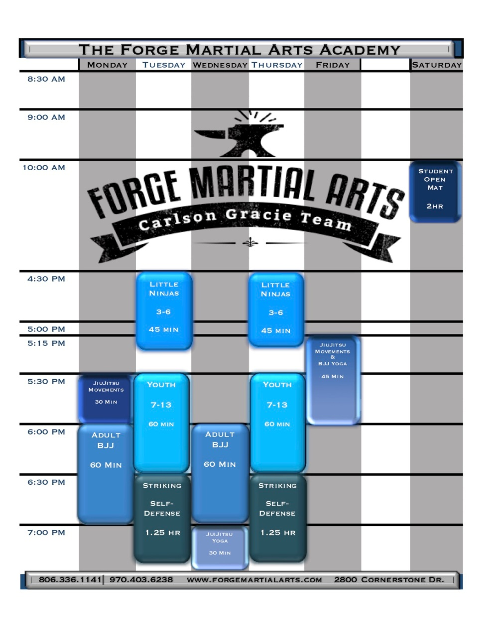 The Forge Schedule Pic